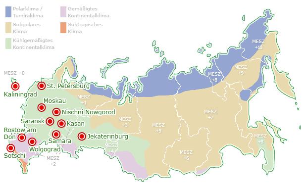 wm stadien russland karte